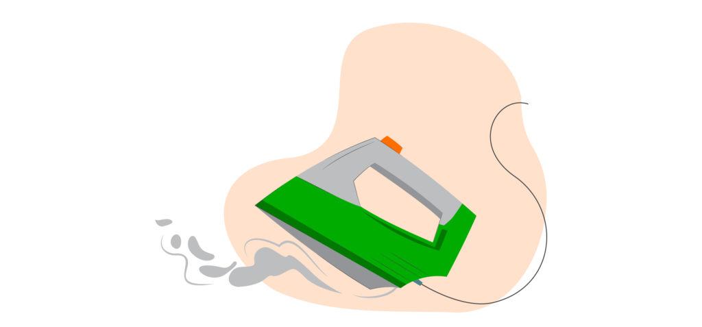 Gunakan setrikaan pengatur panas otomatis